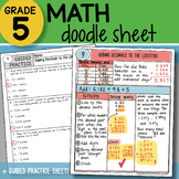 Math Doodle - Adding Decimals to the 1,000ths - So EASY to Use! PPT Included!