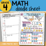Doodle Sheet - Adding & Subtracting Like Denominators - PPT Included