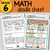 Math Doodle - Addition and Subtraction Equations - So EASY to Use! PPT included
