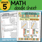 Math Doodle - Additive and Multiplicative Patterns in Graphs - So EASY to Use!