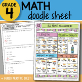 Math Doodle - All About Measurement - So EASY to Use! PPT Included