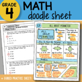 Math Doodle - All About Perimeter - So EASY to Use! PPT Included