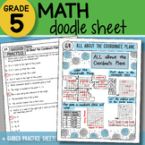 Math Doodle - All About the Coordinate Plane - So EASY to Use! PPT Included!