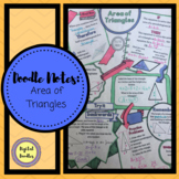 Doodle Notes: Area of Triangles