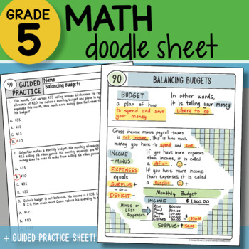 Math Doodle - Balancing Budgets - So EASY to Use! PPT Included!