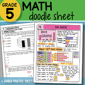 doodle notes bar graphs so easy to use ppt included