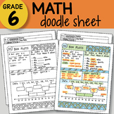 Math Doodle Sheet - Box Plots - EASY to Use Notes - PowerPoint included w key
