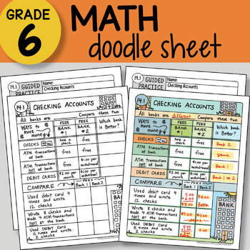 Doodle Notes - Checking Accounts - So EASY to Use! PPT included