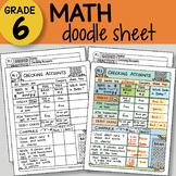 Math Doodle Sheet - Checking Accounts - EASY to Use Notes