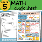 Math Doodle - Classifying Triangles - So EASY to Use! PPT Included!