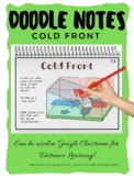 Weather Fronts Cold Front Doodle Notes (Earth Science)