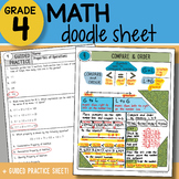 Math Doodle - Compare and Order - So EASY to Use! PPT Included!