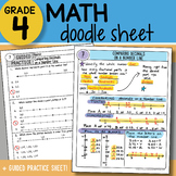Math Doodle Sheet - Comparing Decimals on a Number Line - So EASY to Use!