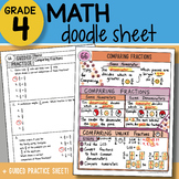 Doodle Sheet - Comparing Fractions - So EASY to Use! PPT Included