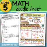 Math Doodle - Comparing Measurements - So EASY to Use! PPT Included!