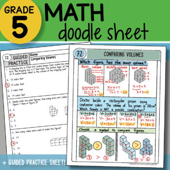 Math Doodle - Comparing Volumes - So EASY to Use! PPT Included!
