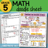 Doodle Notes - Comparing and Ordering Decimals - So EASY to  USE! PPT Included!