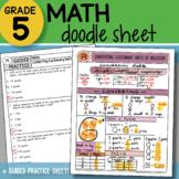 Math Doodle - Converting Customary Units of Measure - So E