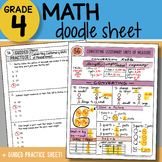 Doodle Notes - Converting Customary Units of Measurement - So EASY to Use