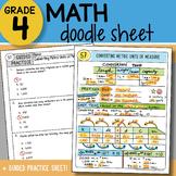 Math Doodle - Converting Metric Units of Measurement - So