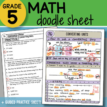 Math Doodle - Converting Units - So EASY to Use! PPT Included!