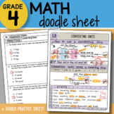 Doodle Notes - Converting Units - So EASY to Use! PPT Included