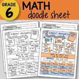 Math Doodle - Credit Reports - EASY to Use Notes - PPT included!