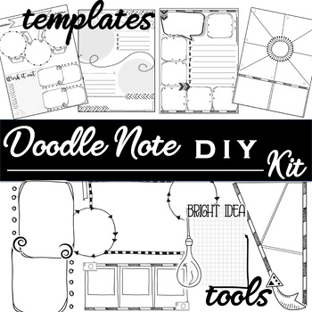 doodle notes diy template kit by kate s classroom cafe tpt