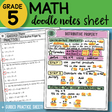 Doodle Notes - Distributive Property - So EASY to Use! PPT Included!