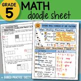 Math Doodle - Dividing Whole Numbers by Unit Fractions - P