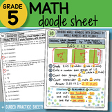 Doodle Notes - Dividing Whole Numbers with Decimals - So EASY to Use!