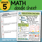 Math Doodle - Dividing unit Fractions by Whole Numbers - PPT Included!