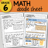 Math Doodle Sheet - Dot Plots - EASY to Use Notes - PowerPoint included!