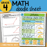 Math Doodle - Drawing Angles with a Protractor - So EASY to Use! PPT Included!