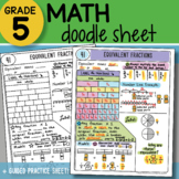 Math Doodle - Equivalent Fractions - So EASY to Use! PPT Included!