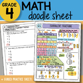 Doodle Sheet - Equivalent Fractions - So EASY to Use! PPT Included
