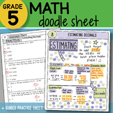 Math Doodle - Estimating Decimals - So EASY to Use! PPT Included!