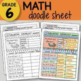 Math Doodle Sheet - Evaluating Equivalent Expressions -  E