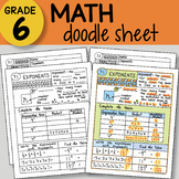 Math Doodle Sheet - Exponents -  EASY to Use Notes - PPT included!