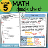 Math Doodle - Expressions - So EASY to USE! PPT Included!