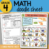 Doodle Sheet - Fixed and Variable Expenses - So EASY to Use! PPT Included