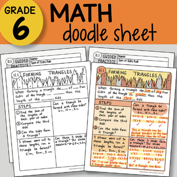 Doodle Notes - Forming Triangles - So EASY to Use! PPT included