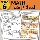 Math Doodle - Forming Triangles - EASY to Use Notes - PPT included!