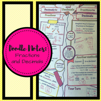 Doodle Notes Fractions and Decimals