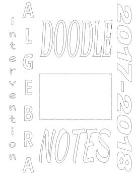 Doodle Notes- Getting started in Algebra I
