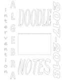 Doodle Notes- Getting started in Algebra I