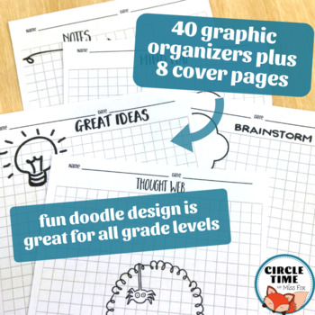 Reading and Writing Graphic Organizers, Writing Scaffolds ELA Doodle Notes