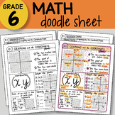 Math Doodle - Graphing and Coordinate Plane - EASY to Use Notes - PPT included!