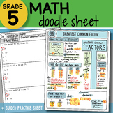 FREE! Doodle Sheet - Greatest Common Factor - So EASY to U