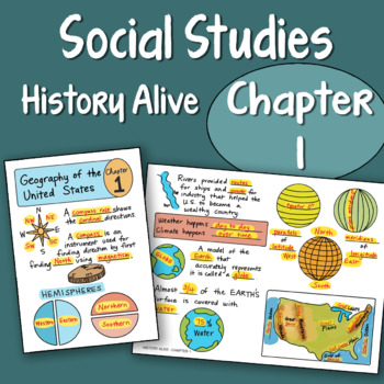 Doodle Fold History Alive Chapter 1 Geography Of The United States